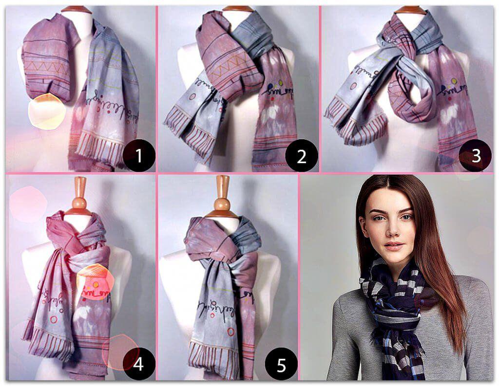 Учимся красиво завязать шарф на шее