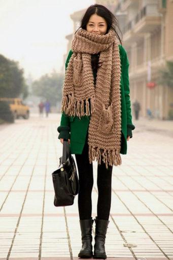 20 способов красиво завязать платок на куртку, пальто или пиджак