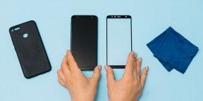 Как наклеить на смартфон защитное стекло