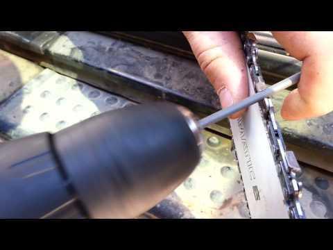 Как заточить цепь бензопилы дрелью в домашних условиях