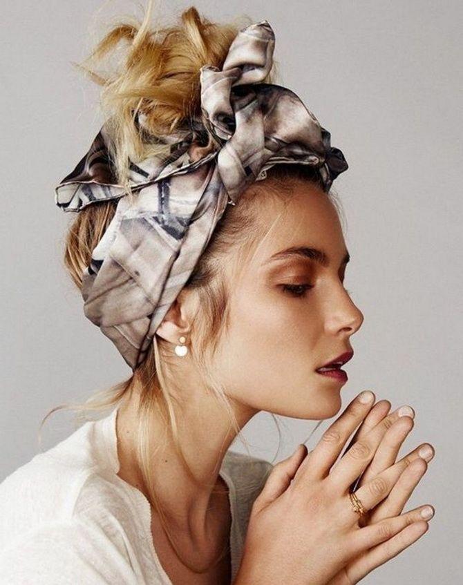 Как завязать платок, шарф, палатин на голове разными способами: варианты для самых стильных