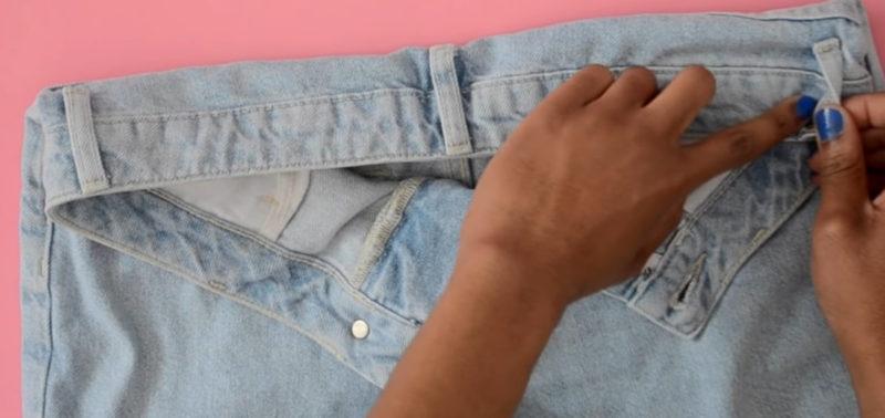 Перешить пояс на джинсах
