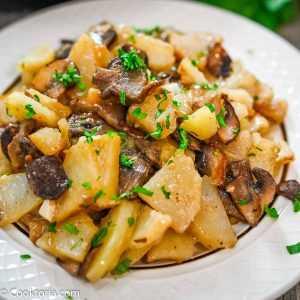 Суп пюре с грибами и картошкой