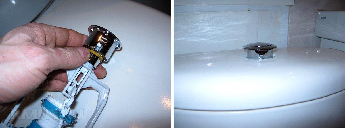 Ремонт и; замена сливной арматуры бачка унитаза