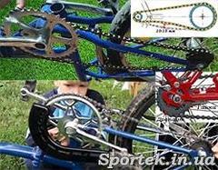 Как поставить слетевшую цепь на велосипеде