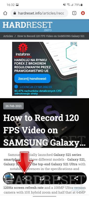 Как сделать скриншот на SAMSUNG Galaxy A31