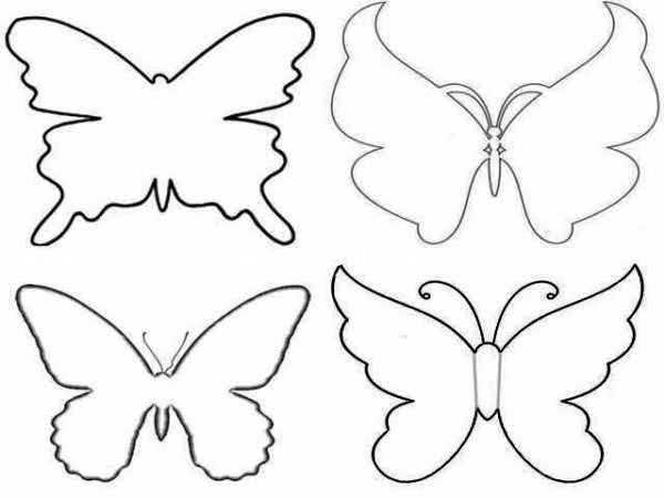 Декорирование стен бабочками из бумаги