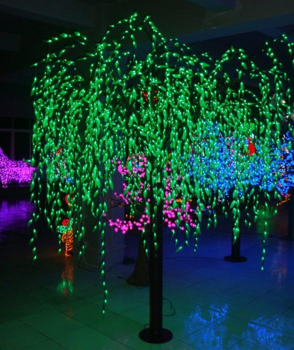 Светодиодные деревья для улицы: как сделать светящееся дерево своими руками
