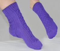 Простые носки на двух спицах для начинающих