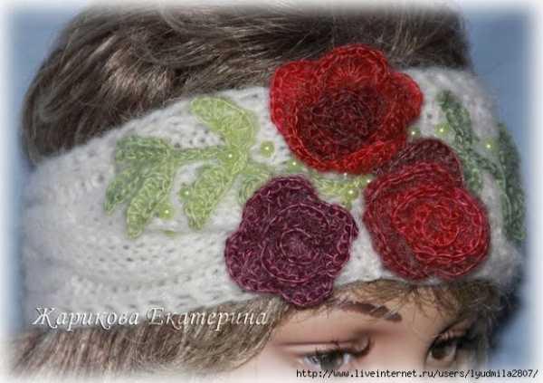 Связать повязку на голову спицами для женщины новые модели