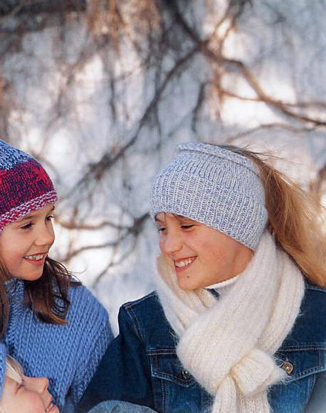 Повязка для девочки на голову спицами сделать самому своими руками