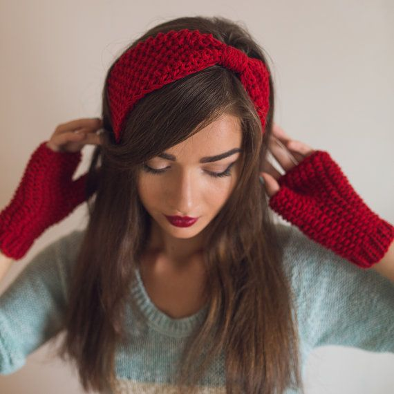 Вязаные повязки на голову: схемы, фото