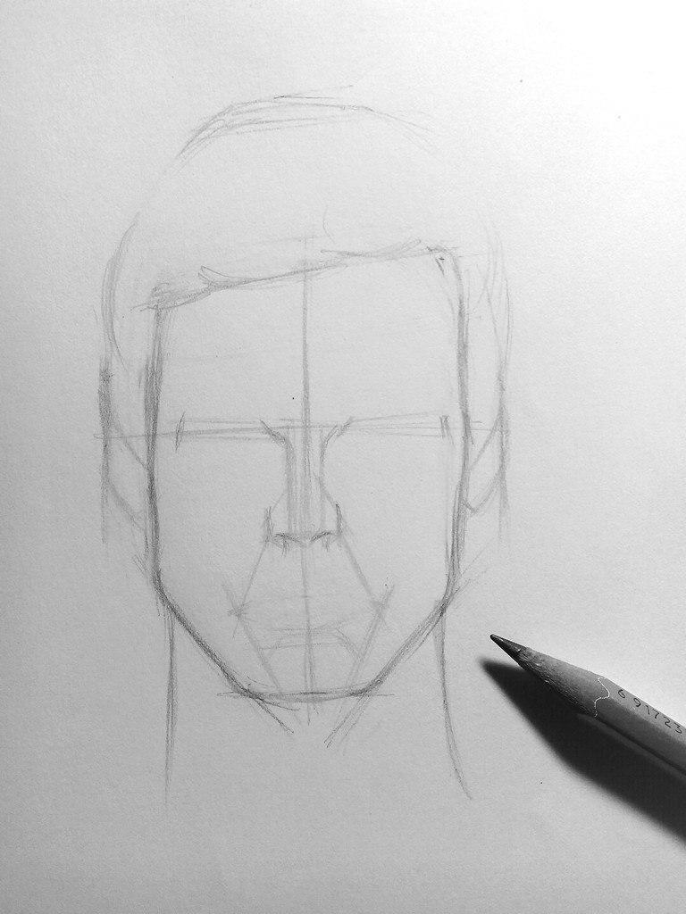 Как нарисовать мужской портрет карандашом