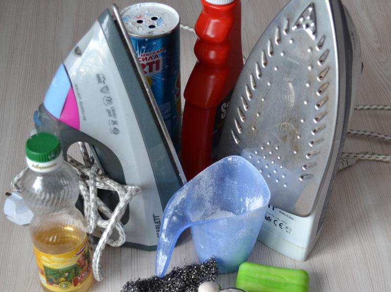 Как очистить утюг от нагара и накипи