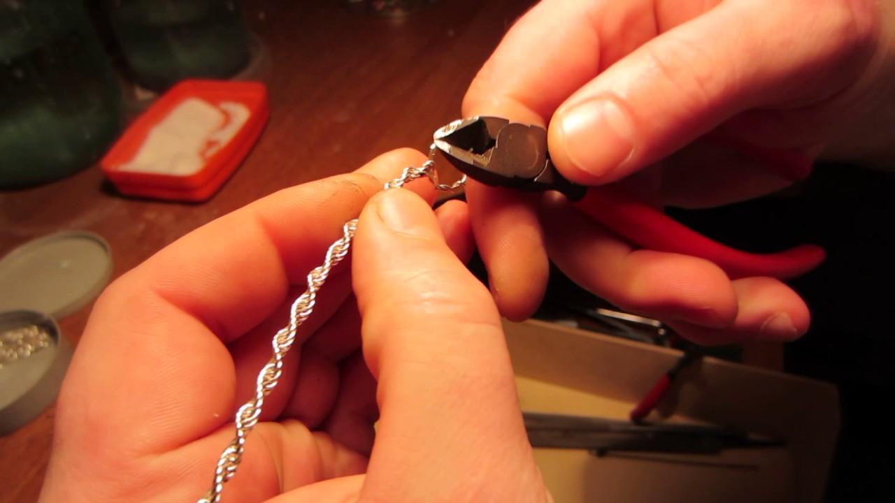Как самостоятельно спаять серебряную цепочку