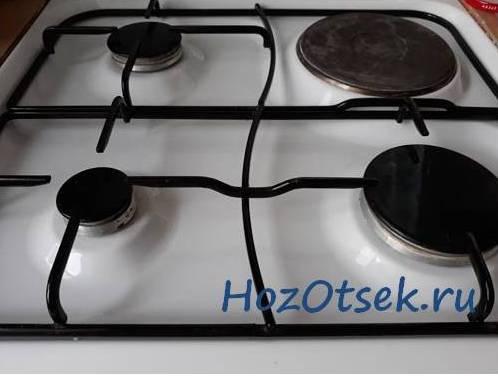 Чистка жира и нагара с решетки от газовой плиты подручными средствами