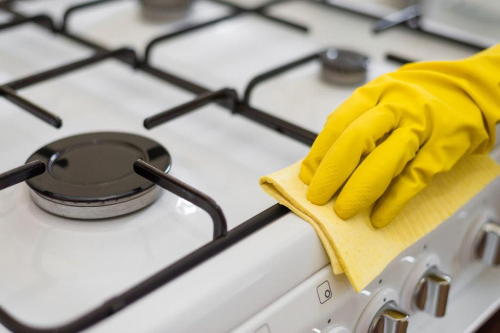 Прокалить над огнем: очищаем решетку газовой плиты и вытяжку от жира и нагара простыми способами