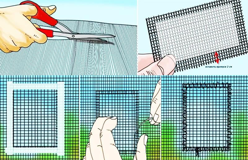 Как починить москитную сетку на окне: просто, быстро и дёшево