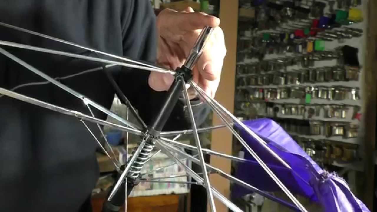 Как отремонтировать женский зонт автомат