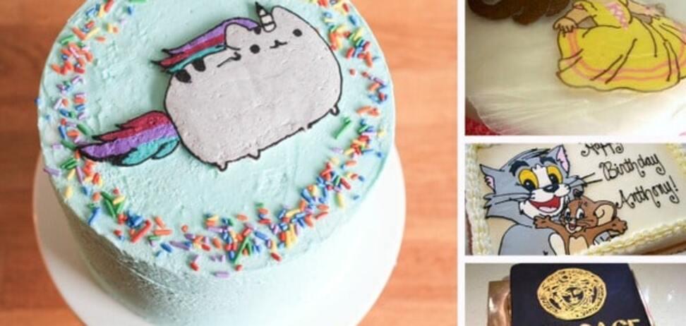 Лайфхак для именинников: как сделать крутые рисунки на торте