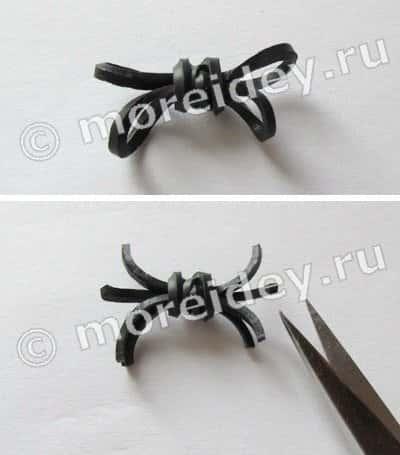 Плетение из резинок; 8: паучки (фигурка, колечко, браслет)