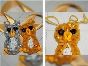 Плетение из резинок на рогатке фигурки животных для начинающих