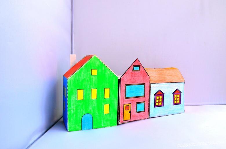 Домик из бумаги - простая инструкция как сделать бумажные домики