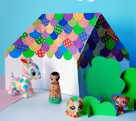 Как делать из бумаги дом – пошаговая инструкция как сделать просто и быстро бумажный домик (100 фото)