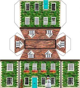 Изготовление макета дома из бумаги