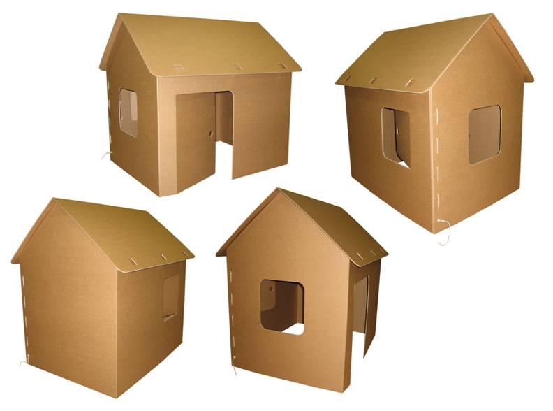 Игрушечный домик из картона: как сделать своими руками