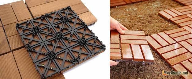 Садовые дорожки из дерева – как сделать практичное и декоративное украшение для сада своими руками