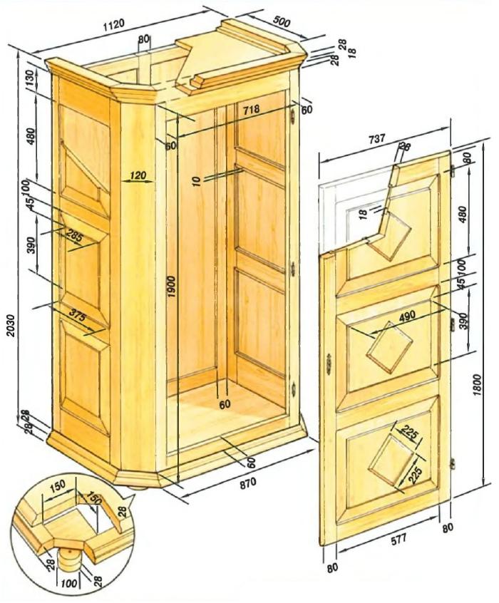 Изготовление своими руками шкафов, важные моменты