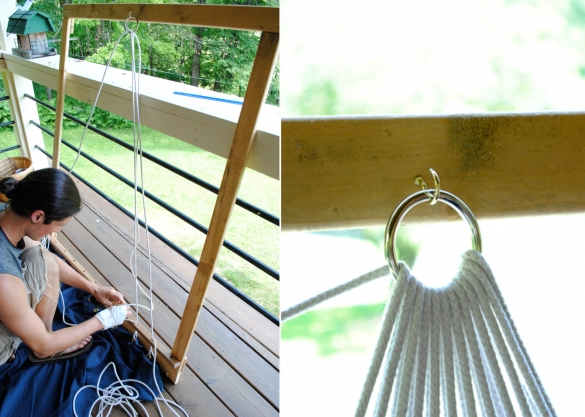 Гамак из волейбольной сетки. Как сделать гамак для дачи