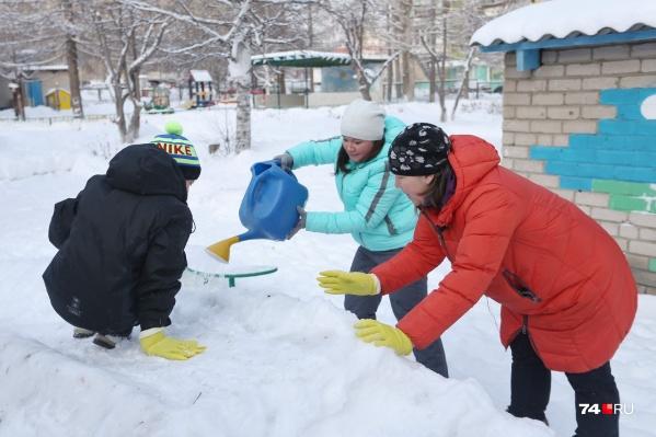 Как сделать горку из снега своими руками — идеи с фото