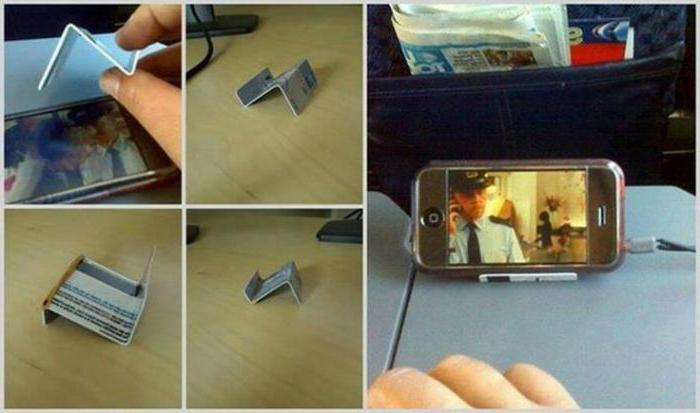 Как сделать подставку для телефона