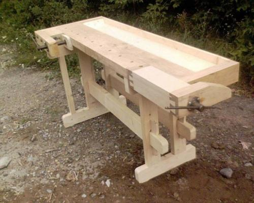 Деревянный верстак в гараж своими руками; просто и доступно
