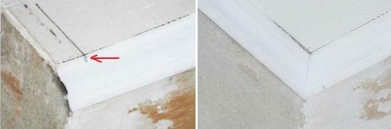 Чем и как резать углы потолочного плинтуса и напольного