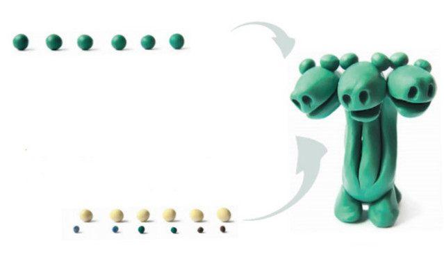 Поделки из легкого (воздушного) пластилина - особенности материала, интересные мастер-классы, фото идеи