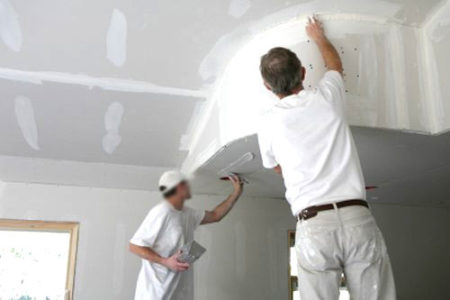 Процесс подготовки и покраски стен из гипсокартона