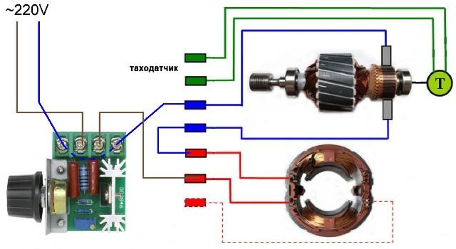 Как подключить двигатель от стиральной машины к электрической сети 220 В
