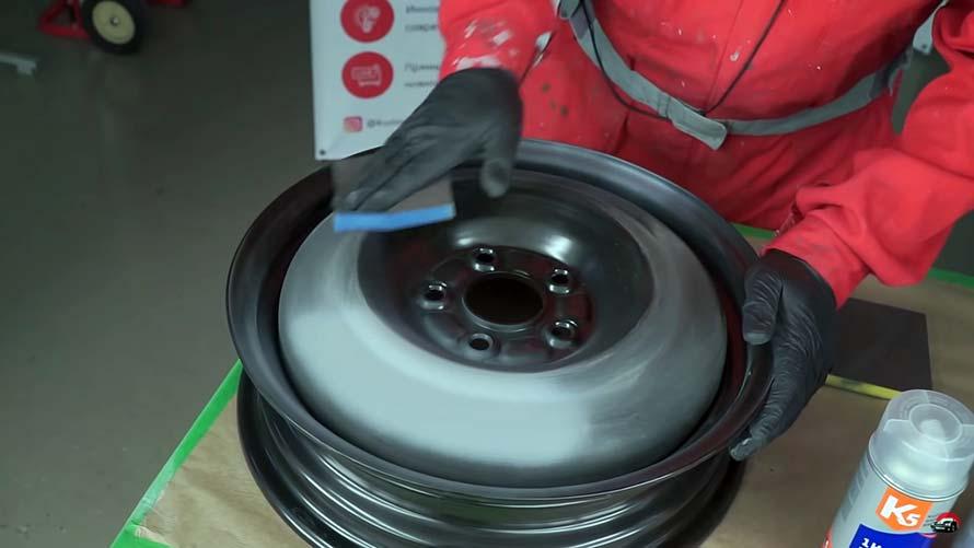 Красим диски баллончиком: пошаговая инструкция