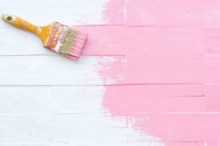 Получение розового цвета при смешивании красок