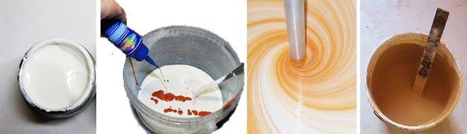 Как получить цвет молочного шоколада и цвет сгущенного молока, так чтобы эти два цвета сочетались