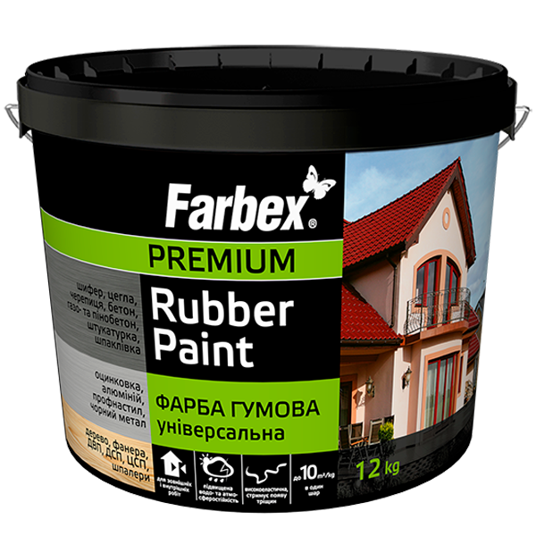 Краска резиновая универсальная Farbex