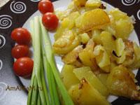 Как пожарить картошку без масла на сковороде — с фото
