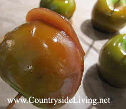 Яблоки в карамели домашние. Рецепт