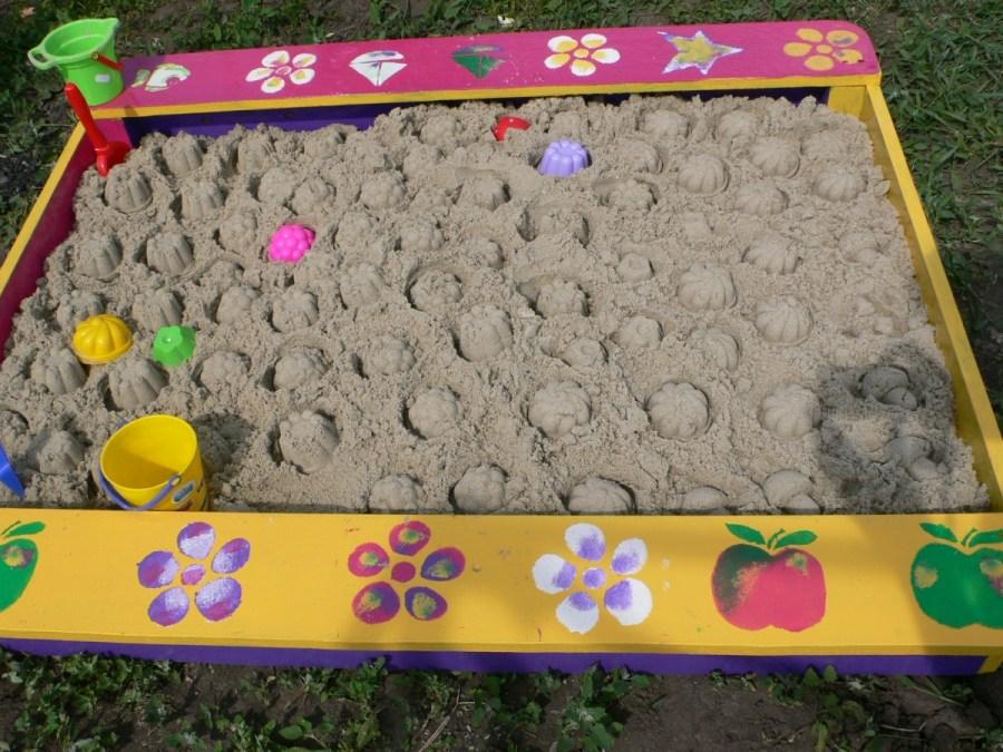 Песочница своими руками; лучшие идеи, материалы, самые простые чертежи и схемы (80 фото)