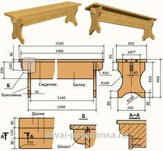 Лавочка из дерева своими руками: особенности изготовления. Сооружение скамейки со спинкой