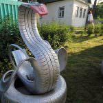 Как сделать лебедя из покрышки; как вырезать из колеса пошагово, фото