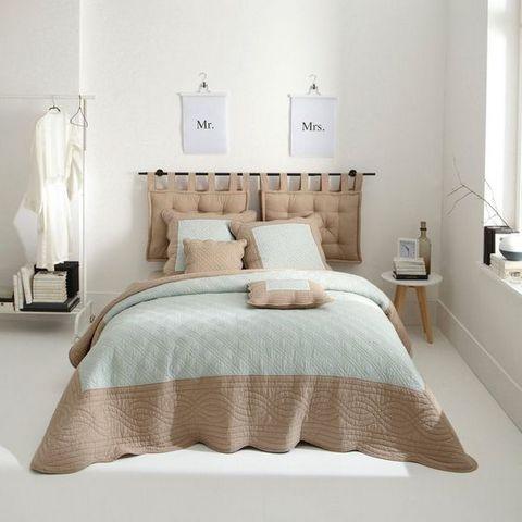 Как сделать мягкое изголовье кровати без деревянного каркаса